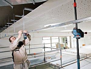 Bosch GLL 3-80 P und abgehängte Decke