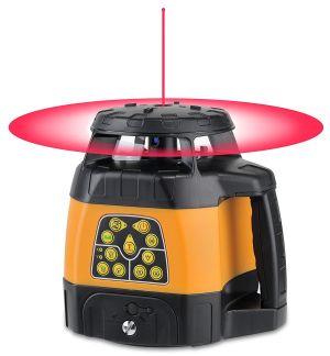 FL 240 HV von Geo Fennel mit dargestellter Rotationslaser-Ebene und Laser-Lot